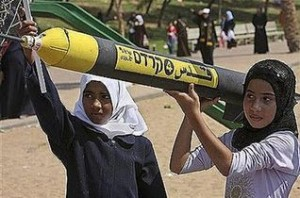 Palestinian Girls taught to fire rockets