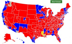 2014 Midterm Election Congressional Map