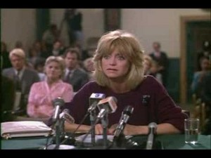 "Goldie Hawn as ""Sunny,"" in the movie Protocol"