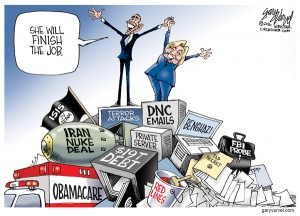 Cartoonist Gary Varvel: The record of President Obama and Hillar